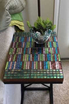Mosaic Side Table by MosaicGiftsofLove on Etsy