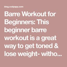 Barre Workout for Beginners: This beginner barre workout is a great way to get toned & lose weight- without hitting the gym or the pavement. Try out this fun & easy barre workout for beginners next time you want to workout like a ballerina. Barre Workout for Beginners: High Knees and Heel Kicks: Stand away from …