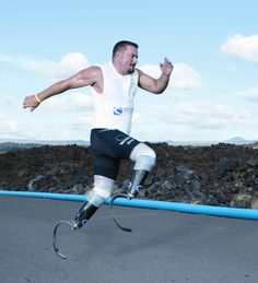 Scott Rigsby, the first double amputee to complete the Ironman Triathlon World Championship race in Kona, Hawaii.