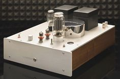 LampizatOr Direct heated Single-ended Triode (DHT SET) amplifier . I suspect this one to sound just amazing, cream of the crop. High End Hifi, High End Audio, Sound Booster, At Home Movie Theater, Guitar Amp, Audiophile, Tube, Channel, Cream