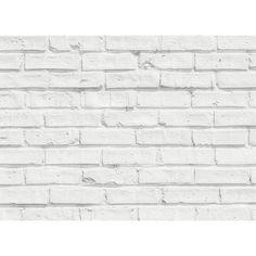 Brewster Home Fashions White Bricks Kitchen Panel Decal White Wall Paneling, Brick Paneling, White Wall Art, Brick Veneer Panels, Faux Brick Wall Panels, Brick Walls, White Brick Backsplash, White Brick Tiles, White Bricks