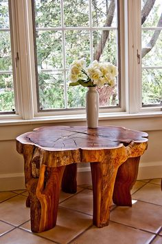 Tree trunk table | Flickr - Photo Sharing!