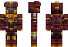 Mechanical FireBot Minecraft Skin