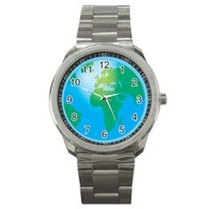 World Globe Sport Metal Watch by megabucks10457