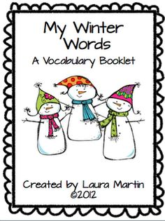 Classroom Freebies Too: My Winter Words Vocabulary Booklet   - Re-pinned by @PediaStaff – Please Visit http://ht.ly/63sNt for all our pediatric therapy pins
