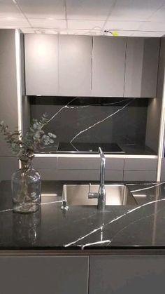 Simple Kitchen Design, Kitchen Pantry Design, Luxury Kitchen Design, Home Decor Kitchen, Interior Design Kitchen, Modern Kitchen Interiors, Modern Kitchen Cabinets, Modern Grey Kitchen, Kitchen Contemporary