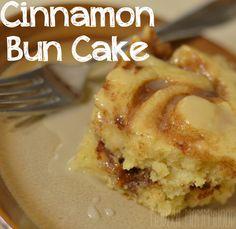 Cinnamon Bun Cake - DELICIOUS!