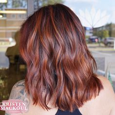 "115 Likes, 2 Comments - 904 ☆ BALAYAGE HAIR ARTIST (@kristenmackoul) on Instagram: ""She previously had her hair colored a deep red (not by me) and came in wanting a change. I…"""