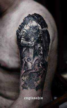 enginsahin - relistictattoo - kol dövmesi - temple warrior - taksim - tattooart - shoulder tattoo - trueness