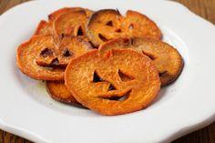 Jack O Lantern sweet potato fries