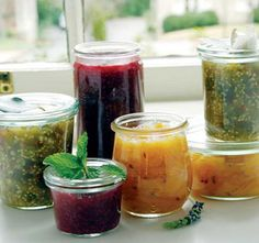 Quick Jams: Discover the super-simple secrets of homemade jams—chock-full of vibrant herb and fruit flavors. Here's a naturally sweetened method that takes only 10 to 20 minutes to assemble and cook, plus refrigerator chilling time.data-pin-do=