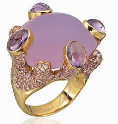 Rina Limor / rose quartz, amethyst, pink sapphires and diamonds /18K pink gold  / 5,500 d