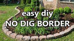 Diy Garden Bed Brick Youtube Diy Landscaping Easy Garden Garden Edging