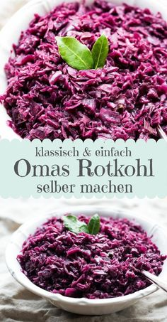 Omas weltbester Rotkohl ganz einfach selbst gemacht – Eine Prise Lecker World's best side dish in winter and for the Christmas menu: Grandma's red cabbage. cabbage cabbage with apples German Red Cabbage, Tofu, Vegetarian Recipes, Healthy Recipes, Winter Food, The Best, Side Dishes, Dinner Recipes, Food And Drink
