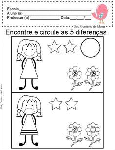 Blog Cantinho de Ideias: Matemática na Educação Infantil - Igual ou Diferente