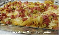 Artes da Sadhia na cozinha : Macarrão do Davi,e motivo do sumiço