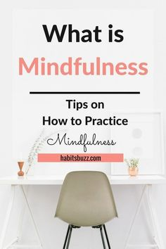 Want to practice mindfulness? Learn what is mindfulness meditation and tips for mindful living. Being mindful helps you to stay present and improve focus and concentration. It also makes you a happier person. Guided Mindfulness Meditation, What Is Mindfulness, Mindfulness Exercises, Mindfulness For Kids, Zen Meditation, Mindfulness Activities, Mindfulness Quotes, Meditation Meaning, Morning Meditation