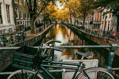 Sunset in Amsterdam - Walking in Amsterdam. Eurotrip 2016.