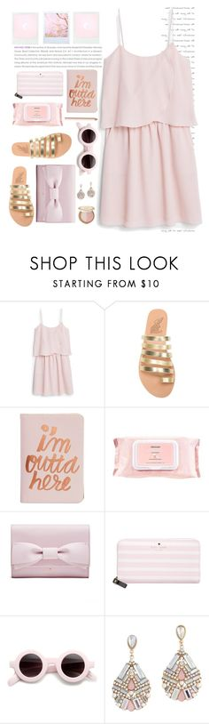 """""""style pink pastel trending"""" by licethfashion ❤ liked on Polyvore featuring MANGO, Ancient Greek Sandals, ban.do, Mamonde, Kate Spade, ALDO and Too Faced Cosmetics"""