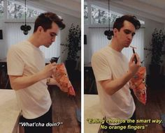 He's just so Brendon Urie// Panic! At The Disco// Emo Bands, Music Bands, Brendon Urie Memes, Brendon Urie Vine, Baby Face, Singing Hallelujah, The Wombats, Band Memes, Panic! At The Disco