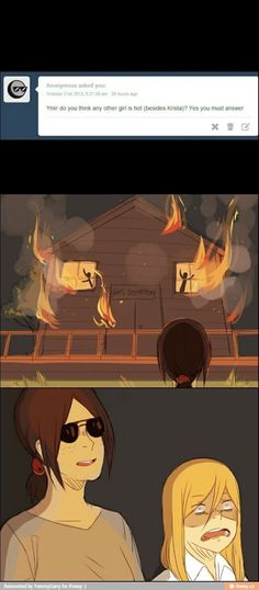 "Ymir:""Of course. When they're on fire."" Historia: ""YMIR!"""