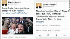 #Busted: Ellen's Oscars selfie switcheroo
