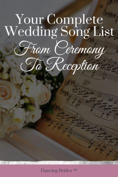 Wondering which wedding songs are needed for your big day? Get a complete list of every wedding song needed, from your ceremony to your reception, with song ideas to help you find your favorite tunes for every moment. Unique Wedding Songs, Popular Wedding Songs, Wedding Songs Reception, First Dance Wedding Songs, Country Wedding Songs, Wedding Song List, Wedding Ideas To Make, Wedding Playlist, Funny Wedding Photos