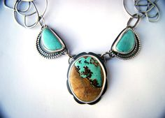 """Toward Your Destination"" - Turquoise Sterling Silver Necklace"