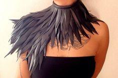 Black feature neck piece