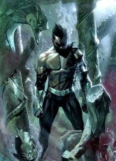 "Namor -- This makes me want to put on Dethklok's ""Murmaider"" and ""Murmaider II: The Water God."""