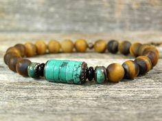 Mens Bracelet  Turquoise Bracelet  Mans by StoneWearDesigns