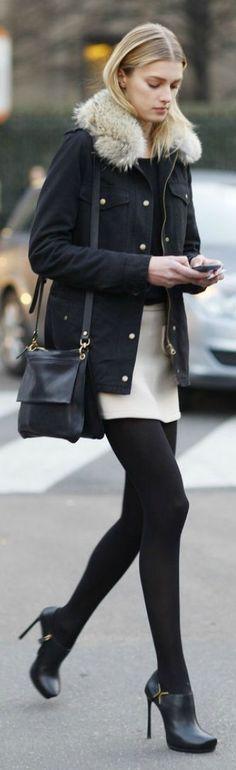 White Midi Skirt by LadyAddict