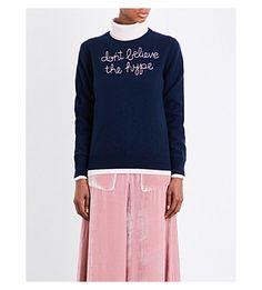 LINGUA FRANCA - Don't Believe The Hype cashmere jumper | Selfridges.com