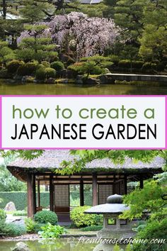 I LOVE these zen Japanese garden ideas! I want to design my backyard landscape with a path, lanterns and plants and now I have lots of garden inspiration to do it. garden design How To Create a Peaceful Zen Japanese Garden - Gardening @ From House To Home Japanese Garden Landscape, Small Japanese Garden, Japanese Tea House, Japanese Garden Design, Japanese Gardens, Japanese Garden Backyard, Japanese Patio Ideas, Japanese Plants, Zen Rock Garden
