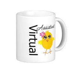 Virtual Assistant Coffee Mug #VirtualChick #administrativeprofessionalsday #appreciationmug