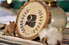 Oh One Fine Day: DIY:# VINTAGE WOOD #TABLE NUMBERS