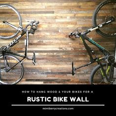How to install wood (old hardwood flooring) on an interior wall AND a simple and affordable product that hangs your bikes up and out of the way. Types Of Wood Flooring, Hardwood Floors, Bike Room, Interior Walls, Fun Projects, My House, Cool Photos, Bicycle, Rustic