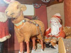 German. Santa being pulled by a huge sheep