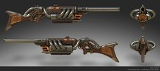 Resultado de imagem para steampunk weapons