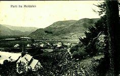 Sør-Trøndelag fylke Meldal kommune MELDALEN. Oversikt ved Å  Utg A. Röske postgått 1912