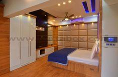 Modern luxurious bedroom designed by Urbanclap professional Reginald Adams Bedroom False Ceiling Design, Bedroom Ceiling, House Hall Design, Adams Homes, Room Setup, Indian Home Decor, Luxury Living, Smart Home, Interior Design