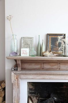 Styled mantlepiece.