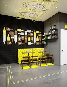 Restaurant Design Moderne, Deco Restaurant, Rustic Restaurant, Cafe Design, Fast Food Restaurant, Interior Design Minimalist, Restaurant Interior Design, Modern Interior Design, Fast Food Design