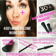 3D fiberlash + 400% increase, made in the USA, all NEW and available July 15