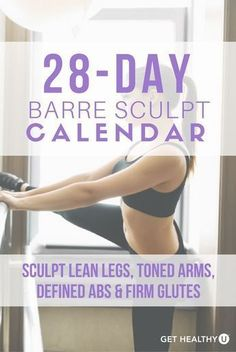 Check out our 28-day calendar to sculpt lean legs, toned arms, defined abs, and firm glutes. How? With these Barre-inspired workouts that blend ballet, Pilates, isometric holds and functional strength training to give you a heart-pumping workout and tone you head to toe!