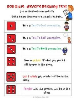 Back to School - Roll a die - Fun games - Guided ReadingThere are 8 vibrantly colored dice games designed to actively engage students in guided reading. This pack is great for 1st week back at school to provide students with a fun way to reinforce vital reading and comprehension skills.