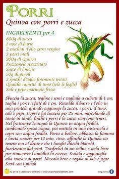 Porri: quinoa con porri e zucca