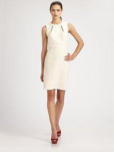 Trina Turk  Tweed Dress, Ivory