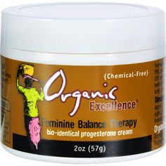 Organic Excellence Feminine Balance Therapy - 2 oz - Organic Excellence Feminine Balance Therapy Description: Bio-Identical Progesterone Cream Chemical-Free Formulated as a natural solution for PMS, perimenopause, and menopause. USP progesterone and certified organic herbs help balance and restore your body, mind, and spirit. Free Of Chemicals. Disclaimer These statements have not been evaluated by the FDA. These products are not intended to diagnose, treat, cure, or prevent any disease…