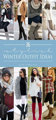 36 Stylish Winter Outfit Ideas #winteroutfits #winterfashion #wintertrends